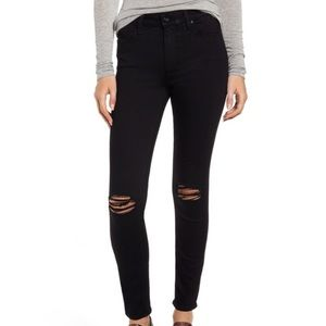 PAIGE Verdugo Ankle Jeans in Black Overdye Size 27